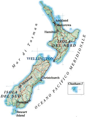 Cartina Geografica Della Nuova Zelanda.New Zealand